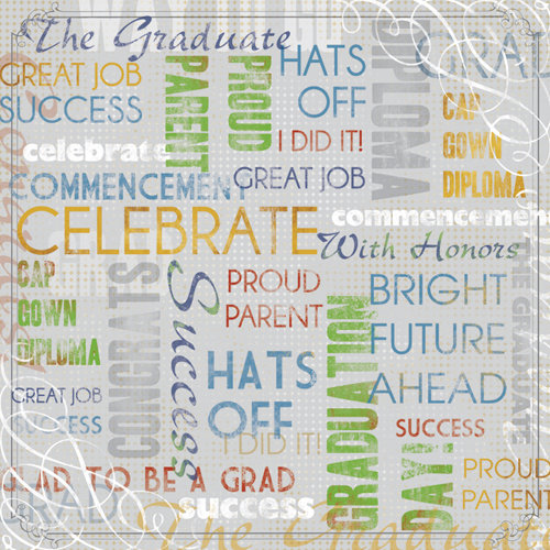 Karen Foster Design - Graduation Collection - 12 x 12 Paper - The Graduate Collage