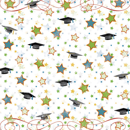 Karen Foster Design - Graduation Collection - 12 x 12 Paper - Graduation Fanfare