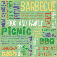 Karen Foster Design - Picnic Collection - 12 x 12 Paper - Food & Family Collage
