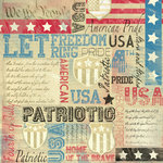 Karen Foster Design - Patriotic Collection - 12 x 12 Paper - American Pride Collage