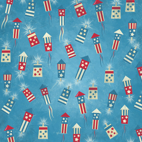 Karen Foster Design - Patriotic Collection - 12 x 12 Paper - Fireworks Stand