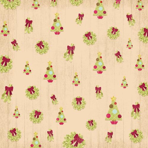 Karen Foster Design - Christmas Collection - 12 x 12 Paper - Deck the Halls