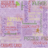 Karen Foster Design - Christmas Cooking Collection - 12 x 12 Paper - Christmas Cooking Collage