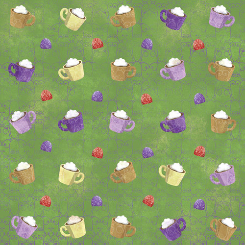 Karen Foster Design - Christmas Cooking Collection - 12 x 12 Paper - Merry Mugs