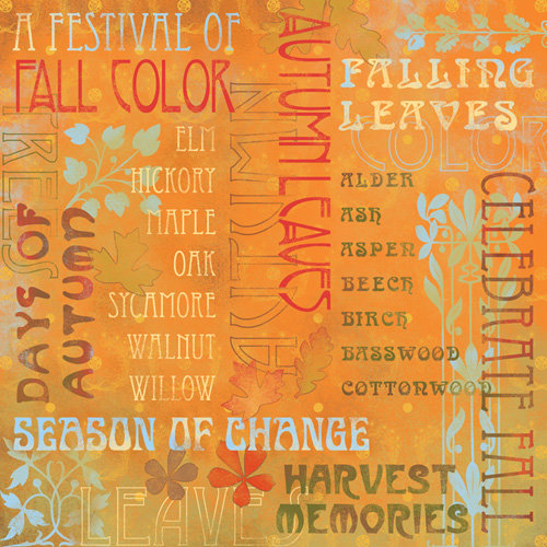 Karen Foster Design - Thanksgiving and Autumn Collection - 12 x 12 Paper - Celebrate Fall Collage