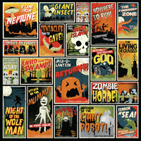 Karen Foster Design - Halloween Collection - 12 x 12 Paper - Monster Matinee