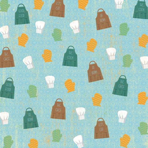 Karen Foster Design - In the Kitchen Collection - 12 x 12 Paper - Chef Accessories