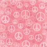 Karen Foster Design - Peace Collection - 12 x 12 Paper - Pink Peace