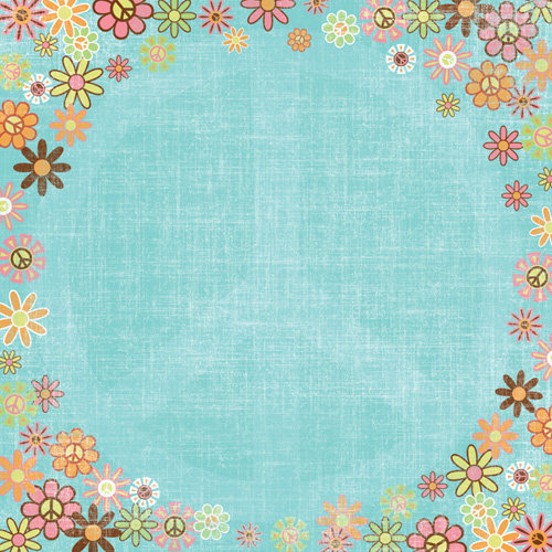 Karen Foster Design - Peace Collection - 12 x 12 Paper - Flower Child