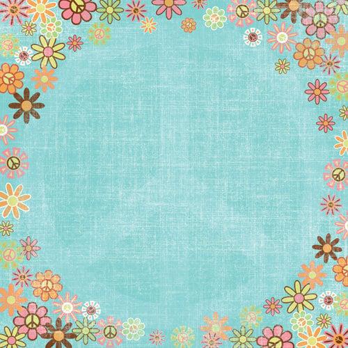 Karen Foster Design - Peace Collection - 12 x 12 Paper - Flower Child