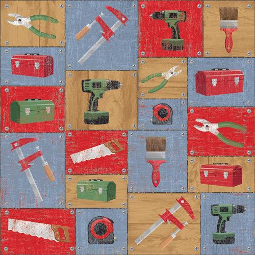 Karen Foster Design - DIY Collection - 12 x 12 Paper - DIY Tools