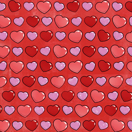 Karen Foster Design - Valentine's Collection - 12 x 12 Paper - Candy Hearts