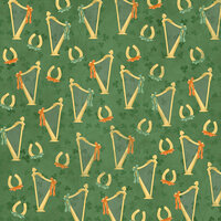 Karen Foster Design - St. Patrick's Day Collection - 12 x 12 Paper - Harps and Horseshoes
