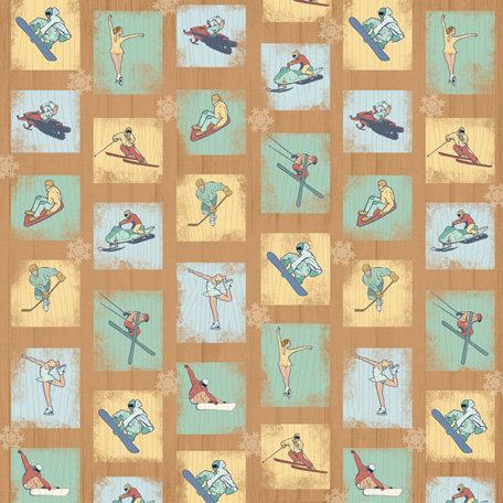 Karen Foster Design - Winter Sports Collection - 12 x 12 Paper - Winter Sports