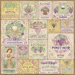Karen Foster Design - Winery Collection - 12 x 12 Paper - Wine Labels