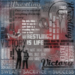Karen Foster Design - Wrestling Collection - 12 x 12 Paper - Wrestling Is Life Collage
