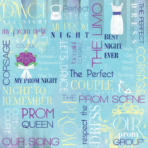 Karen Foster Design - Prom Collection - 12 x 12 Paper - My Prom Night Collage