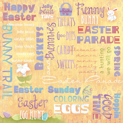 Karen Foster Design - Easter Collection - 12 x 12 Paper - Easter Parade Collage