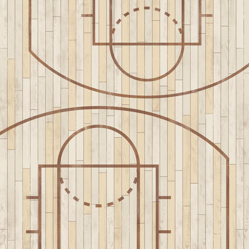 Karen Foster Design - Basketball Collection - 12 x 12 Paper - On The Court