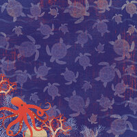 Karen Foster Design - Snorkeling Collection - 12 x 12 Paper - Sea Turtles