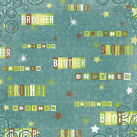 Karen Foster Design - Brothers Collection - 12 x 12 Paper - Oh Brother!