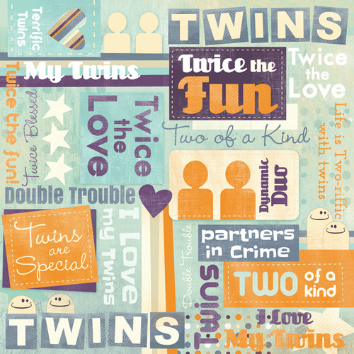 Karen Foster Design - Twins Collection - 12 x 12 Paper - Twins Are Special Collage
