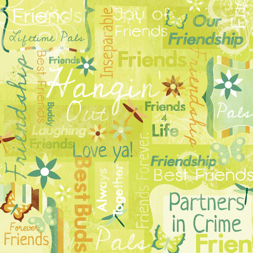 Karen Foster Design - Best Friends Collection - 12 x 12 Paper - Our Friendship Collage