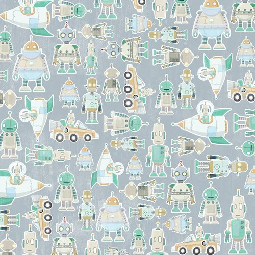 Karen Foster Design - Robots Collection - 12 x 12 Paper - Robots