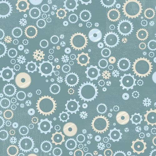 Karen Foster Design - Robots Collection - 12 x 12 Paper - Sprockets and Gears