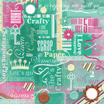 Karen Foster Design - Scrapbooking Collection - 12 x 12 Paper - Crafty Collage