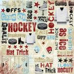 Karen Foster Design - Hockey Collection - 12 x 12 Paper - I Love Hockey Collage
