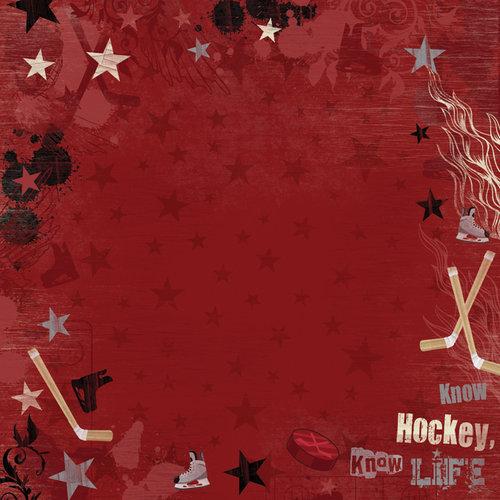 Karen Foster Design - Hockey Collection - 12 x 12 Paper - Hockey Is Life