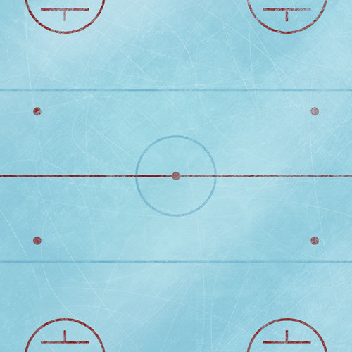 Karen Foster Design - Hockey Collection - 12 x 12 Paper - Hockey Rink
