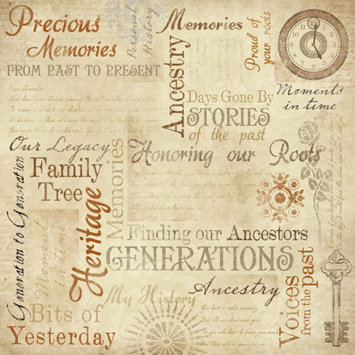 Karen Foster Design - Ancestry Collection - 12 x 12 Paper - Memories Collage