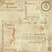 Karen Foster Design - Ancestry Collection - 12 x 12 Paper - Memories Collage