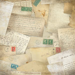 Karen Foster Design - Ancestry Collection - 12 x 12 Paper - Letters From The Past