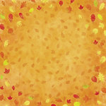 Karen Foster Design - Autumn and Thanksgiving Collection - 12 x 12 Paper - Falling Leaves
