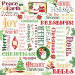 Karen Foster Design - Christmas Collection - 12 x 12 Paper - Home For The Holidays Collage