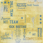 Karen Foster Design - Drill Team Collection - 12 x 12 Paper - Drill Team Collage