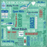 Karen Foster Design - Dentist and Orthodontist Collection - 12 x 12 Paper - Dentist and Orthodontist Collage