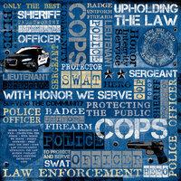 Karen Foster Design - Police Collection - 12 x 12 Paper - Law Enforcement Collage