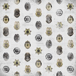 Karen Foster Design - Police Collection - 12 x 12 Paper - Police Badges