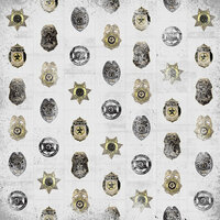 Karen Foster Design - Police Collection - 12 x 12 Paper - Police Badges