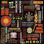 Karen Foster Design - Firefighter Collection - 12 x 12 Paper - Firefighter Collage