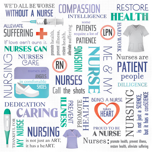 Karen Foster Design - Nurse Collection - 12 x 12 Paper - Nurse's Collage