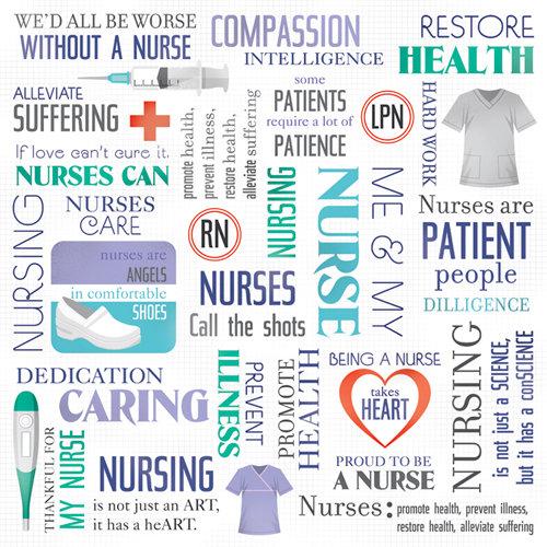Karen Foster Design - Nurse Collection - 12 x 12 Paper - Nurse