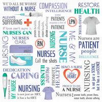 Karen Foster Design - Nurse Collection - 12 x 12 Paper - Nurse's Collage