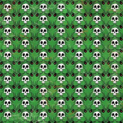 Karen Foster Design - Halloween Collection - 12 x 12 Paper - Spiders and Skulls