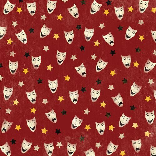 Karen Foster Design - Drama Collection - 12 x 12 Paper - Drama Masks