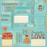 Karen Foster Design - Grandma Collection - 12 x 12 Paper - Classic Grandma Collage